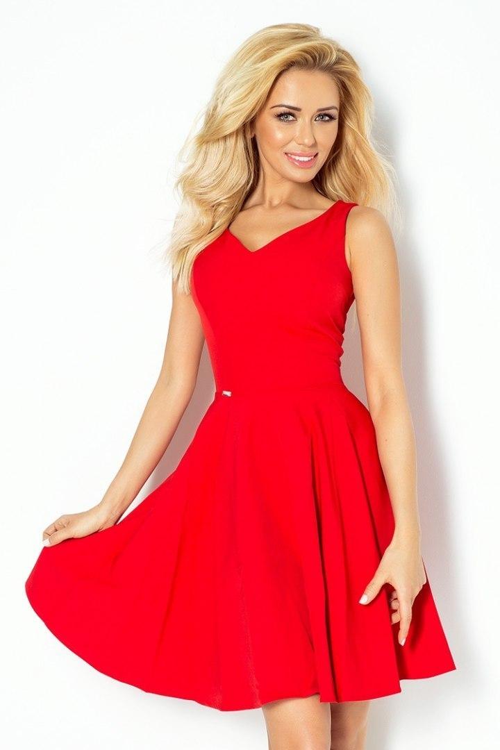 114 3 Sukienka z koła dekolt w kształcie serca marciano CZERWONA